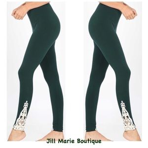 Hunter green leggings cotton S,M, L, XL NWT